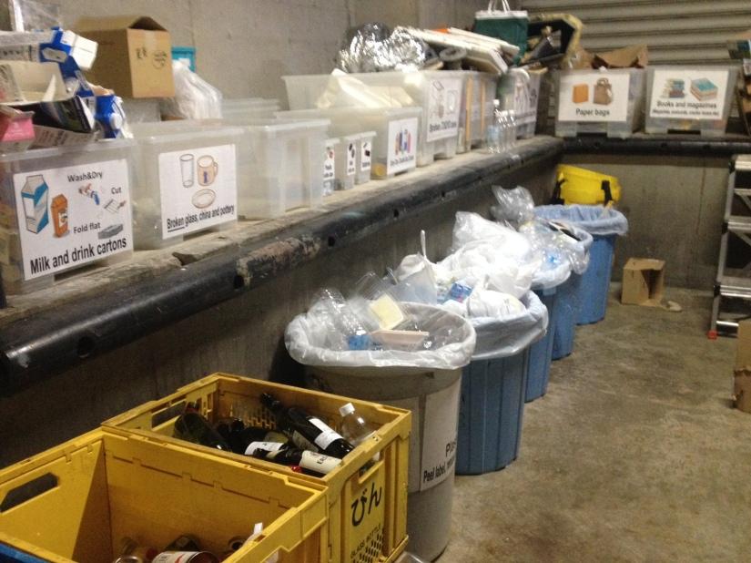 Embassy recycling bins